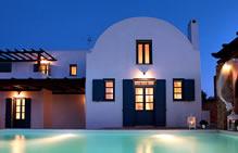 Luxury Villa Santorini with Car