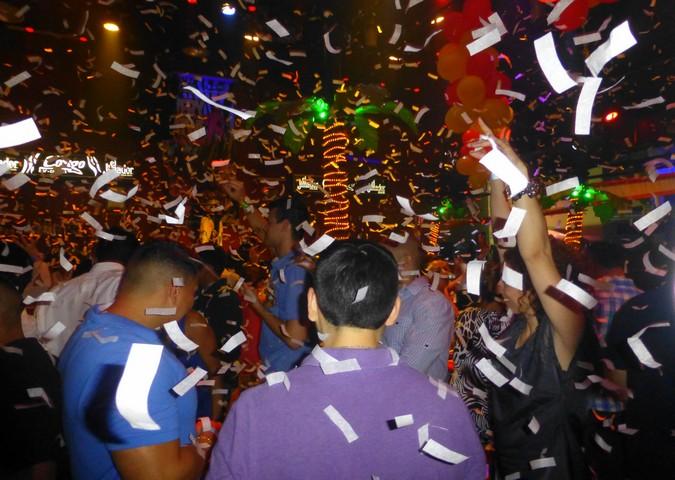 Nightscene in Cancun