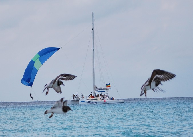 Catamaran Cruise and Parasailing in Cancun