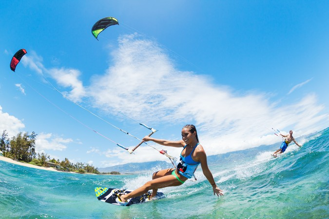 Kite Boarding in Tulum, Mexico