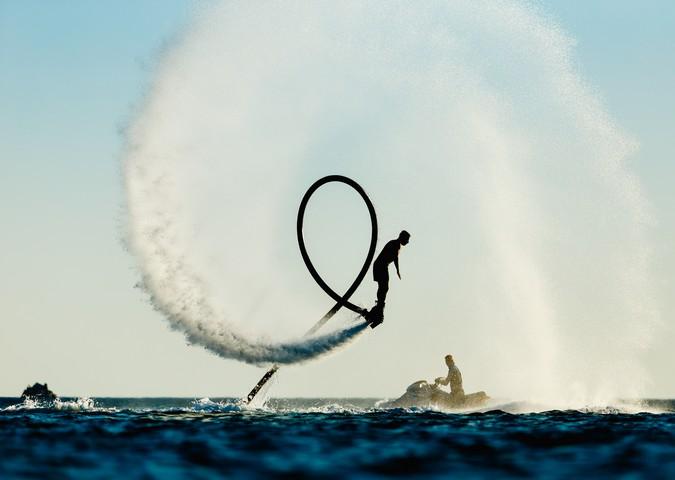 Fly board rider at Cancun
