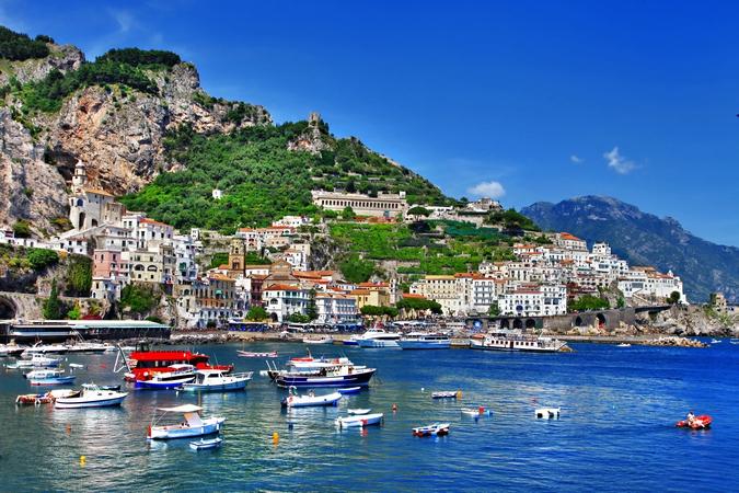 Stunning coast of Amalfi, Italy