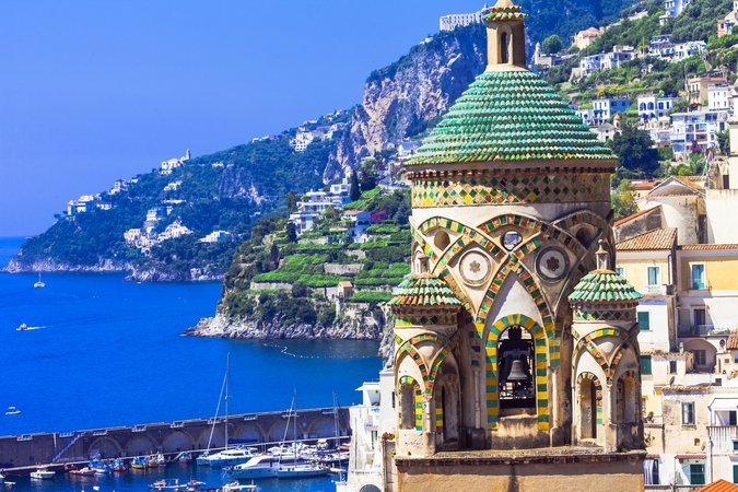 Scenic Amalfi -beautiful views and beautiful churches.Italy