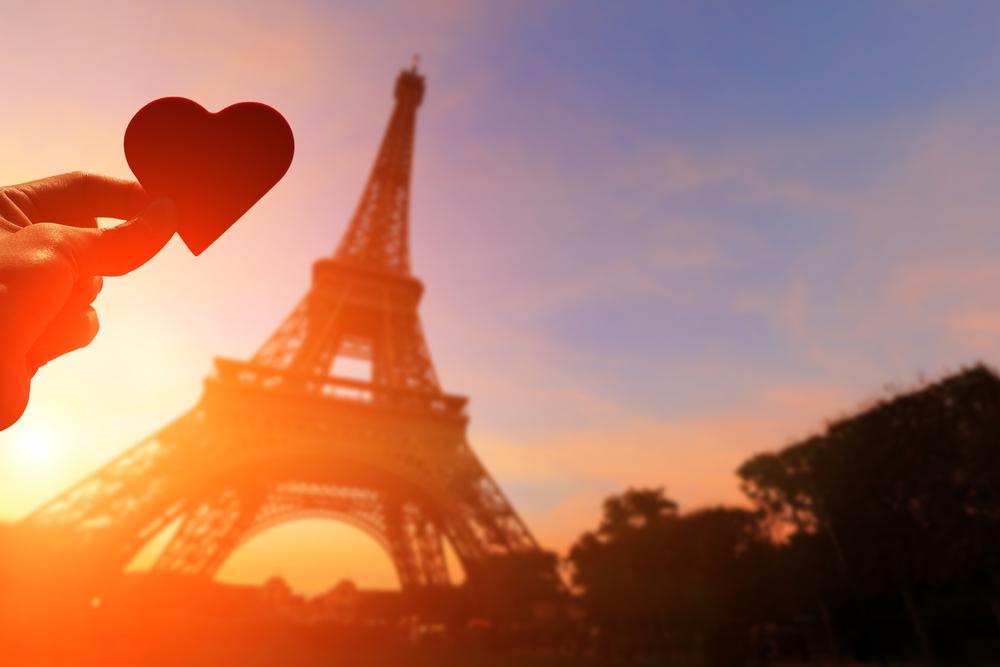 Paris heart Eiffel Tower