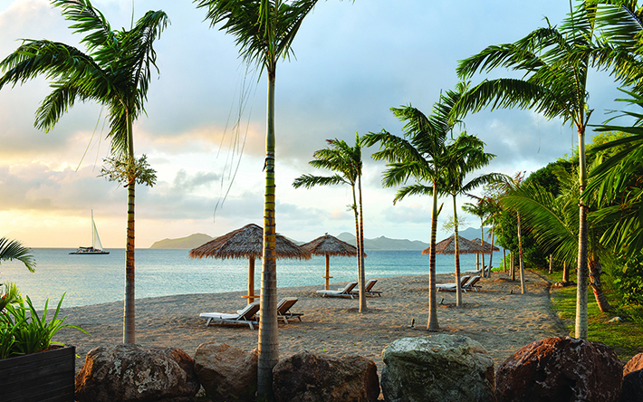Photo of Paradise Beach Resort in Nevis, British West Indies.