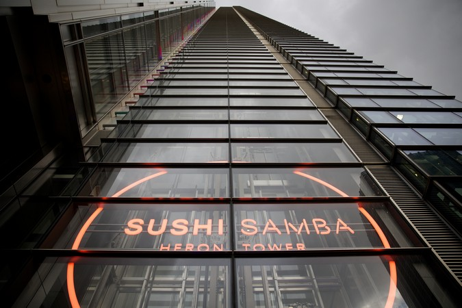 Sushisamba London: Home to incredible views and delicious food.